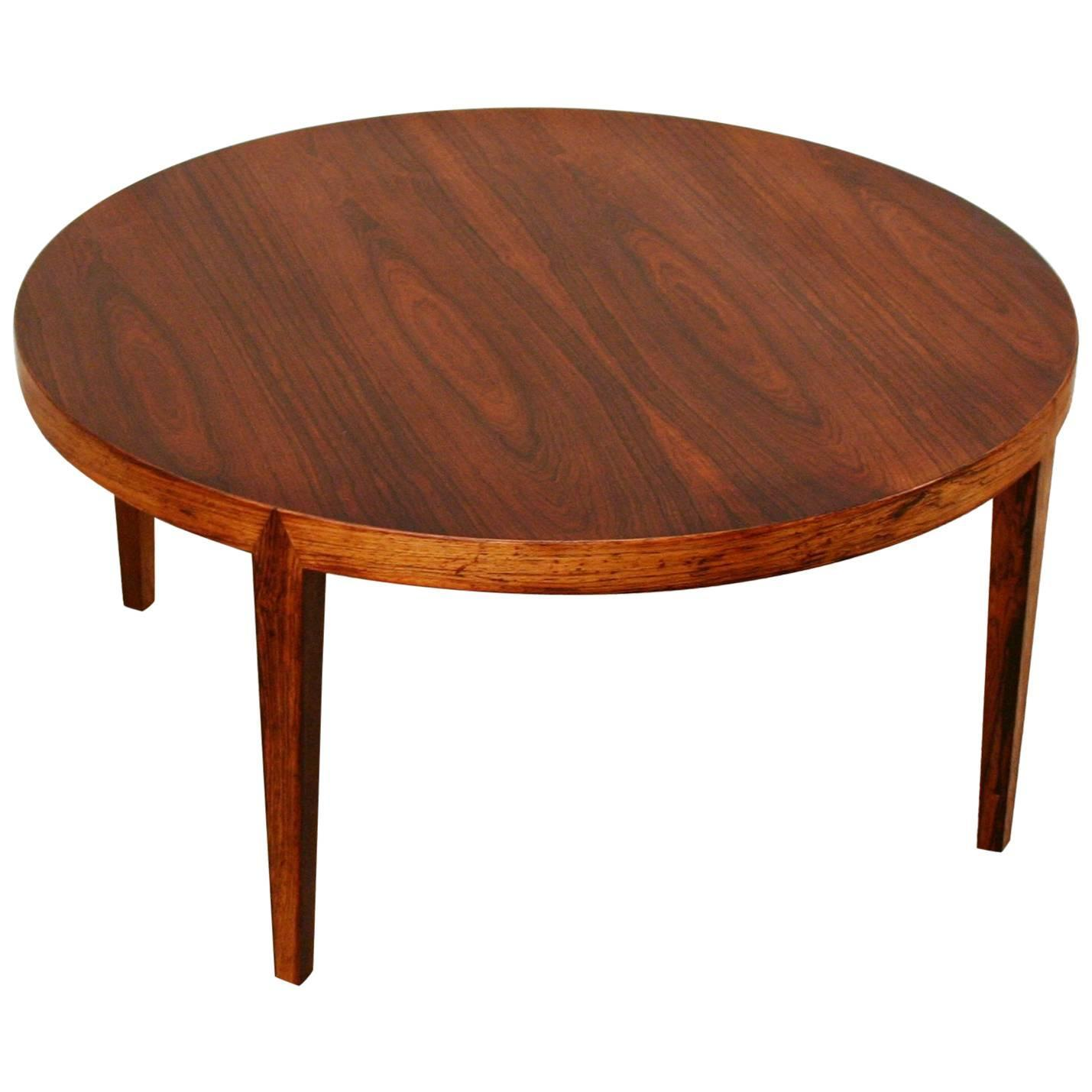 Vintage Danish Round Rosewood Coffee Table For Sale At 1stdibs