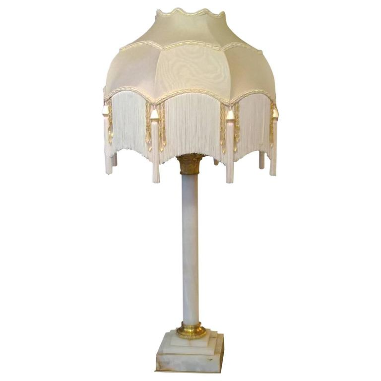 Late 19th Century Alabaster Table Lamp