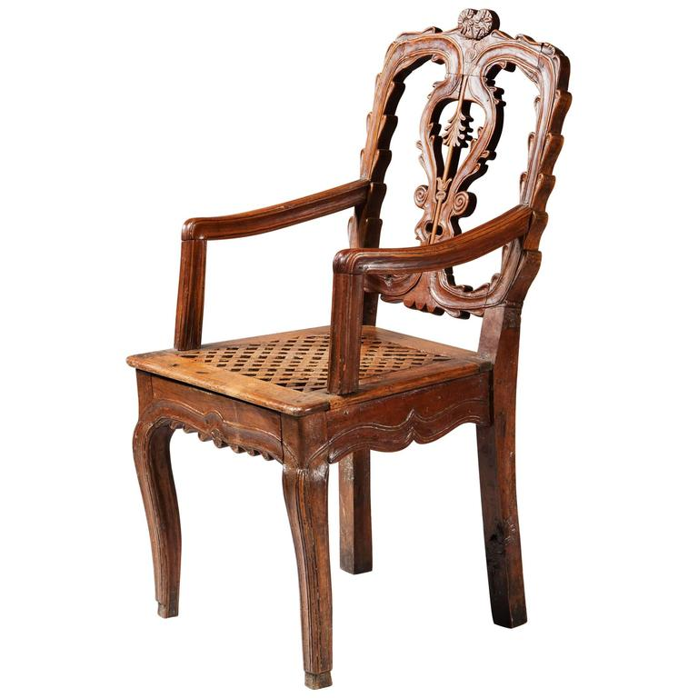 country rustic french armchair fauteui for sale at 1stdibs. Black Bedroom Furniture Sets. Home Design Ideas