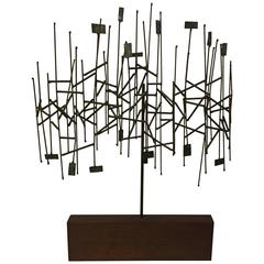 1960s Mixed Metals Abstracted Tree Sculpture in the Manner of Harry Bertoia