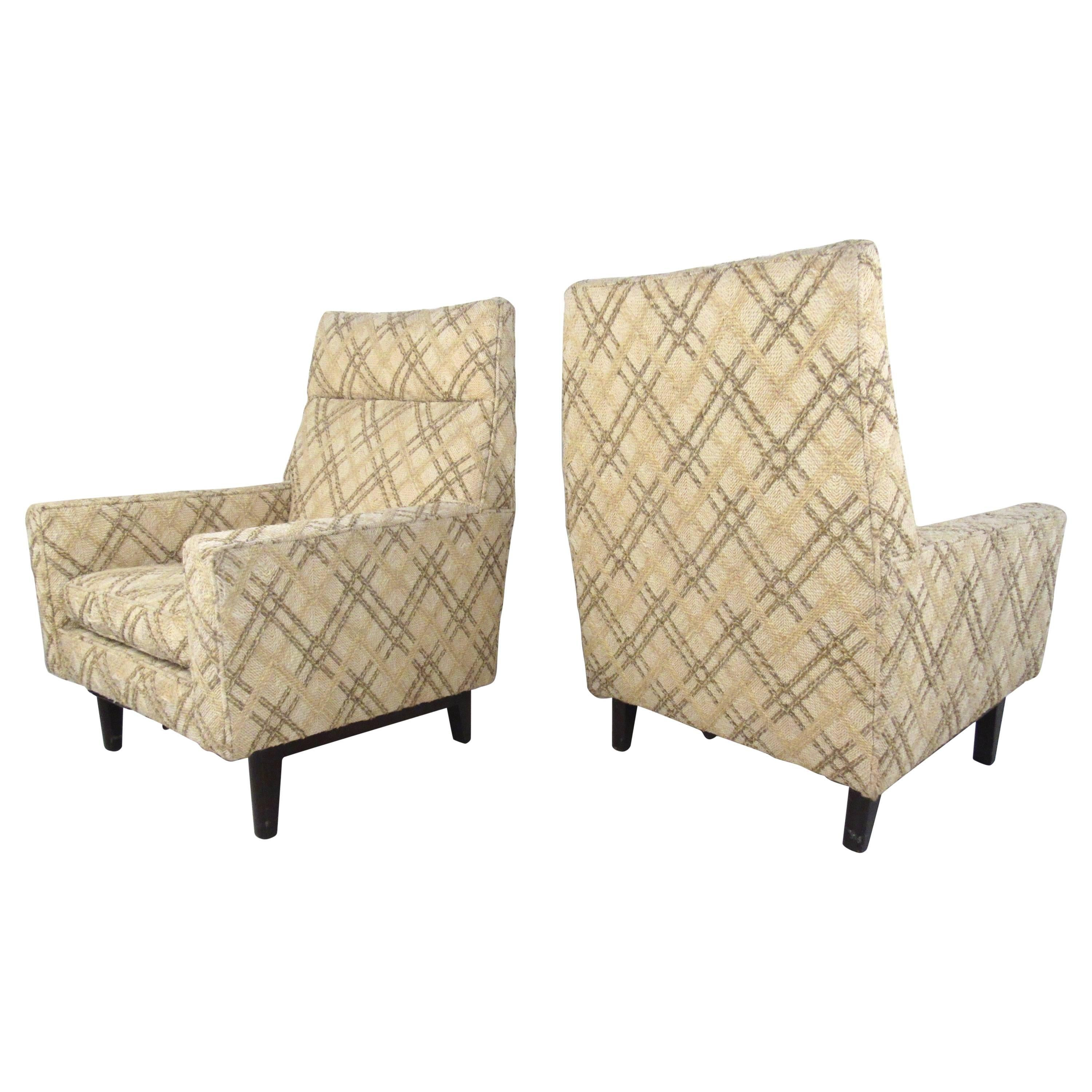 Pair of Mid-Century Edward Wormley Lounge Chairs for Dunbar