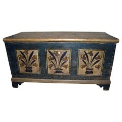 American Pennsylvania Dutch Stenciled Blanket Chest