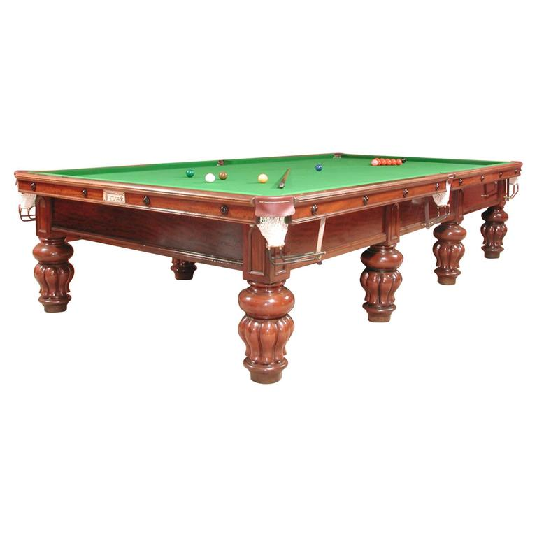 Billiard Snooker Pool  Table antique  circa 1890 For Sale
