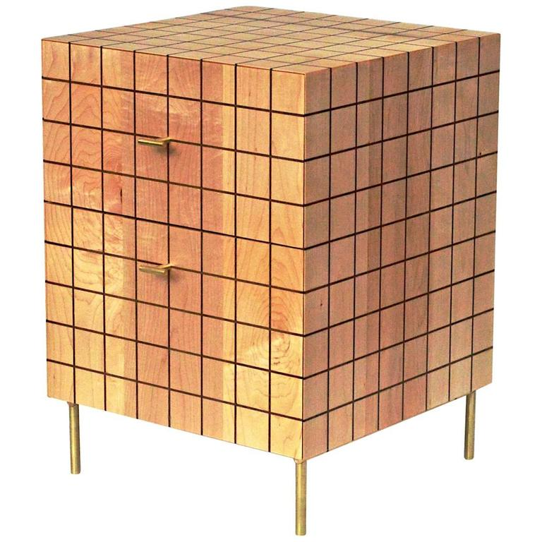 Grid Cabinet in Maple by Tate Pray For Sale