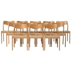 Set of 12 Moller Dining Chairs