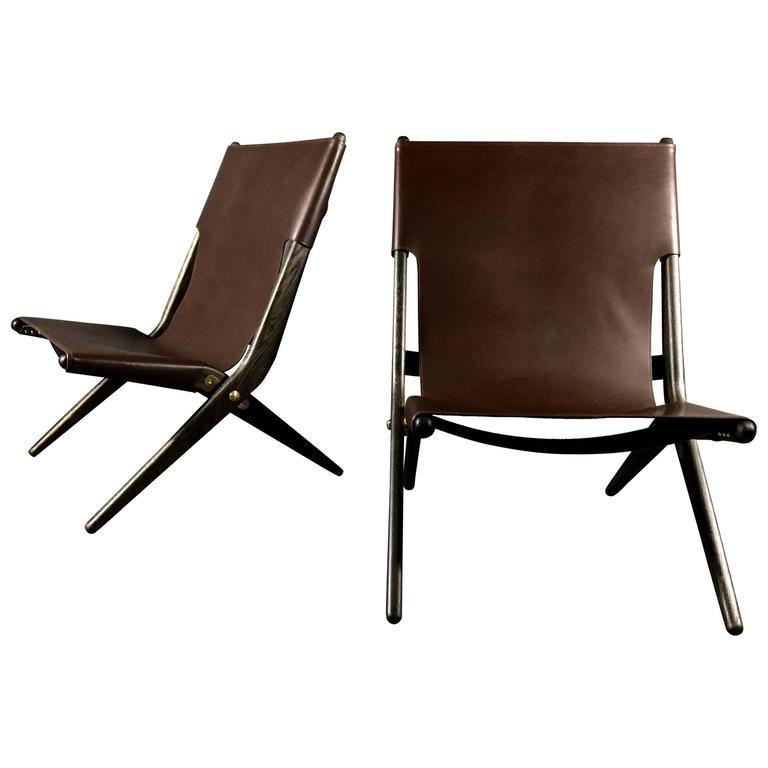"""saxe"""" folding lounge chair, mogens lassen, designed 1955, denmark"""
