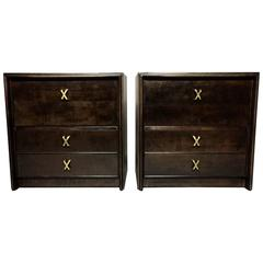 Pair of Paul Frankl Gentleman Chests for John Stewart, 1950s