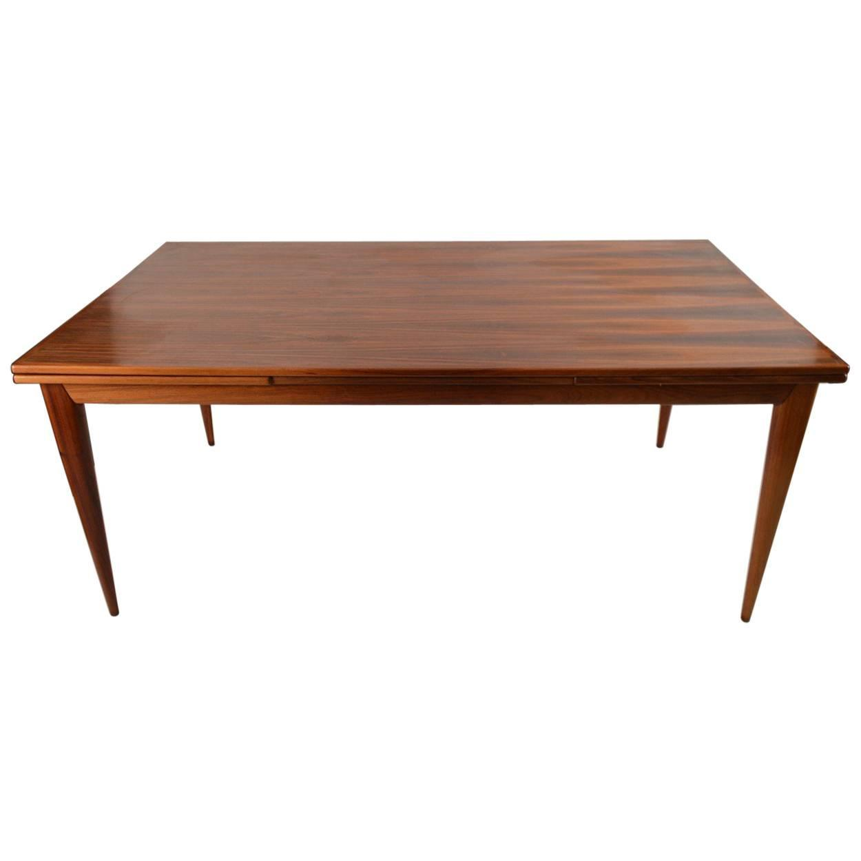 Rosewood Danish Modern Refractory Style Dining Table For