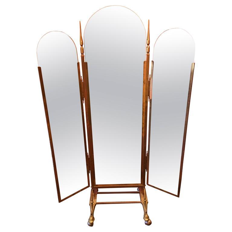 Br Three Way Folding Floor Mirror