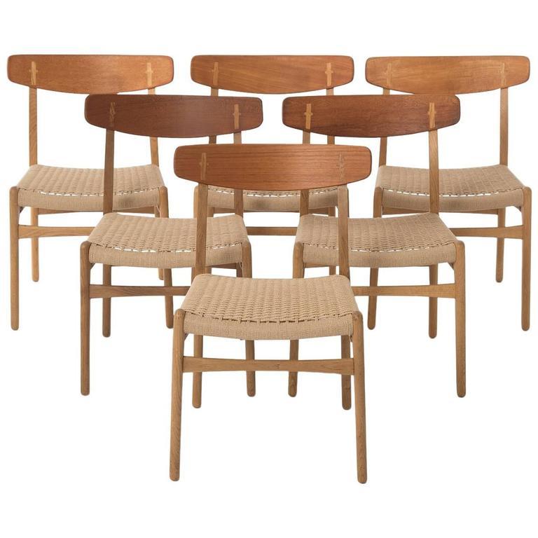 Wegner dining chair set at 1stdibs for Wegner dining chair