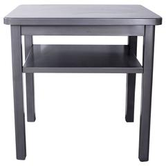 Steel Tanker Side Table with Shelf, circa 1960s
