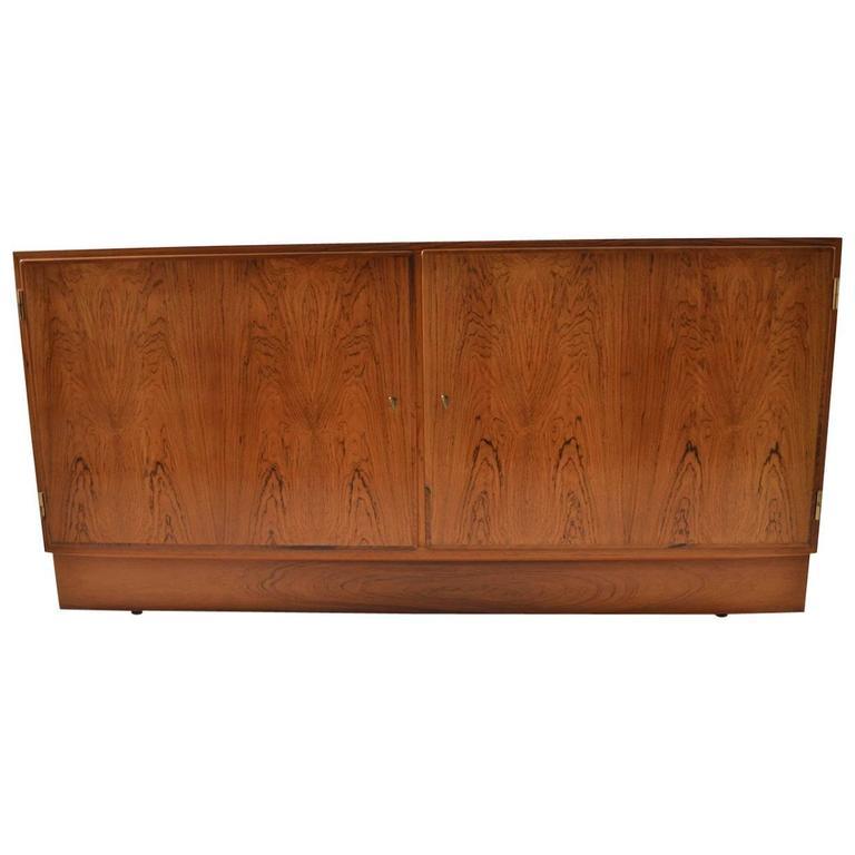 Danish Modern Two-Door Rosewood Cabinet