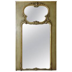 19th Century French Trumeau Giltwood Mirror
