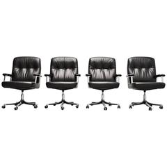 Osvaldo Borsani Executive Office Chairs Tecno, Italy, 1966