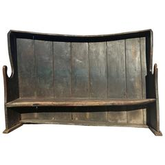 Vintage English Settle Bench, circa 19th Century