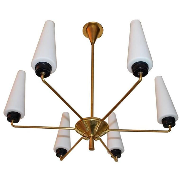 Elegant French Mid-Century Chandelier For Sale