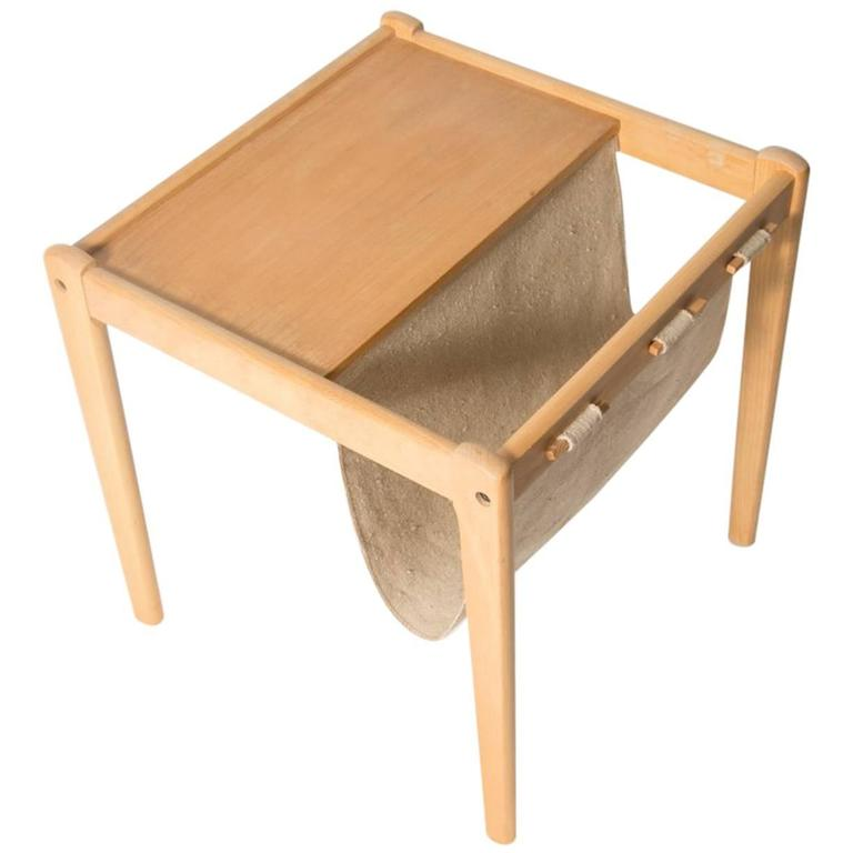 Beechwood Danish Magazine Rack Side Table By Furbo For