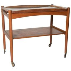 Tray Top Bar Cart After Poul Hundevad