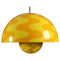 Very Unique Collectors Item Verner Panton Large Two-Toned Flower Pot Pendant