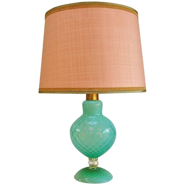 Handmade murano glass table lamp with matching shade circa 1950s italy at 1stdibs - Handmade table lamp ...