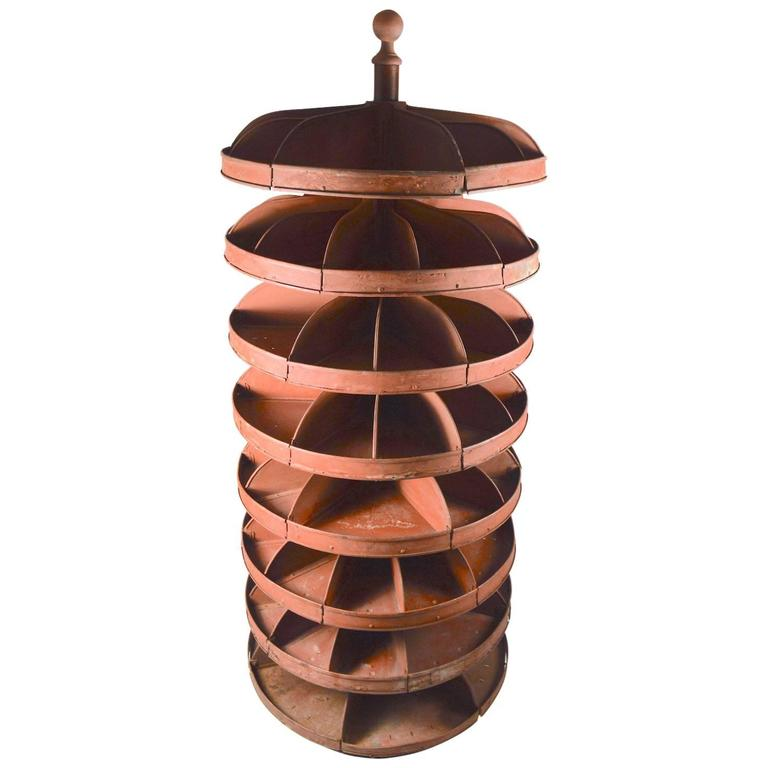Vintage Industrial Rotating Storage Bin At 1stdibs