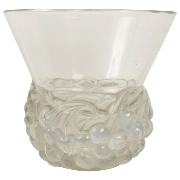 """René Lalique Opalescent Vase """"Cerises"""""""