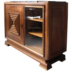 Fine French Art Deco Two Door Buffet - Dry Bar  in the Manner of Maxime Old