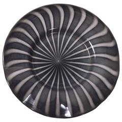 Massive Murano Platter Centerpiece Bowl Attributed to Barbini