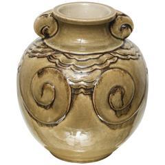 French Art Deco Glazed Vase