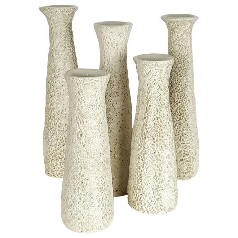 Grouping of Candlesticks with Organic Coral Texture by Judi Tavill, 2016 1