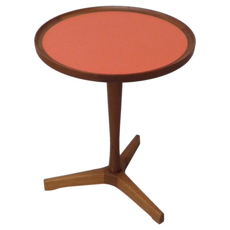 Hans Anderson Orange Inlay Teak Occasional Table 1