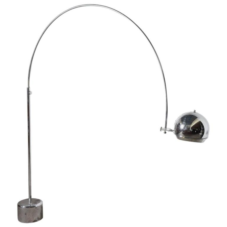 Dutch Mid-Century Modern Arc Floor Lamp Designed by Gepo Amsterdam