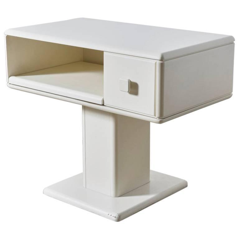 Adjustable White Counter Display, Vanity Table, Made in Italy