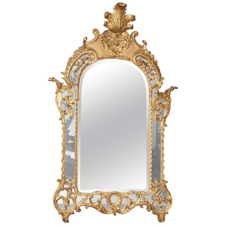 Late 18th Century Giltwood Regence Mirror