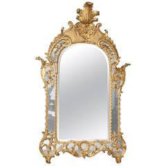 Late 18th Century Giltwood Regence Mirror