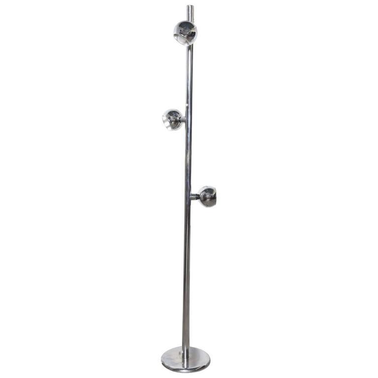 Stilux Tri-Globe Chrome Floor Lamp