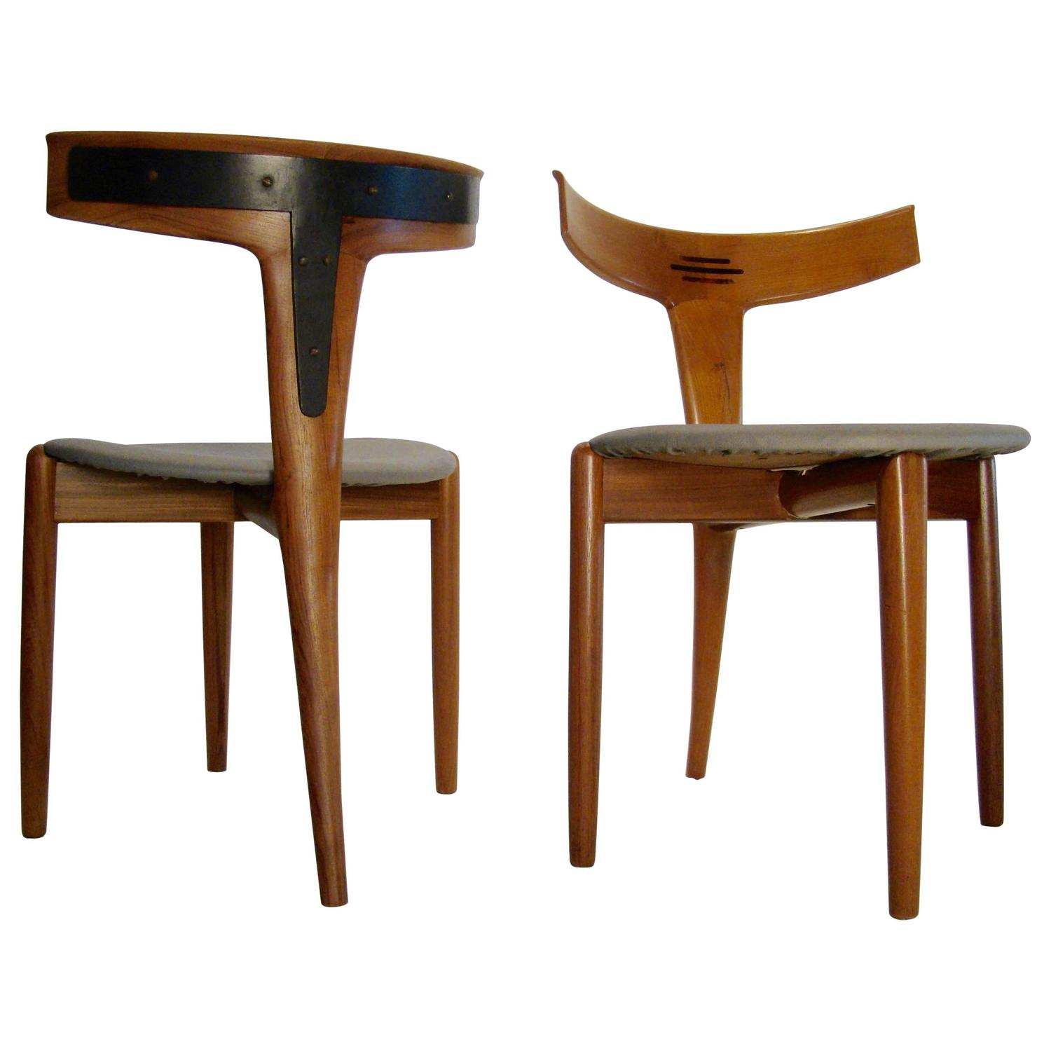 Rare and Beautiful Dining Accent Chair by Kurt Ostervig for