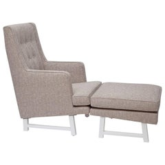 1950's Lounge Chair and Ottoman by Edward Wormley for Dunbar