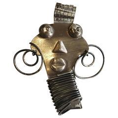 Rebajes Sterling Silver Ubangi Brooch, Master Modernist Jewelry Artisan