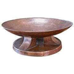 Italian Hammered Copper Bowl, 1950s