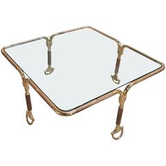 Stunning Rare Gucci Horsebit Coffee Table