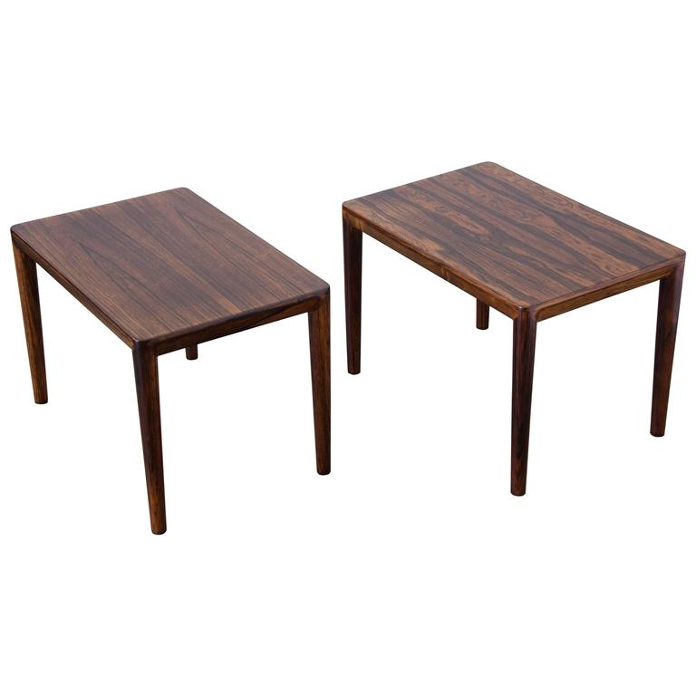 Pair of rosewood side tables for sale at 1stdibs for Table exit fly