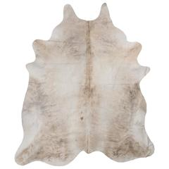 Textured Silver Cowhide Rug