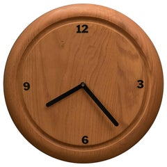 Vintage Solid Wood Wall Clock by Howard Miller