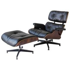 1970s Eames 670/671 Lounge Chair with Ottoman