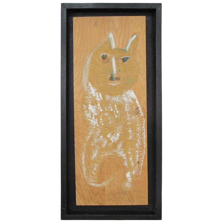 Jimmy Lee Sudduth Painting of a Dog For Sale