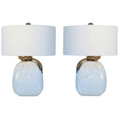 Pair of Ceramic and Brass Table Lamps by Chapman