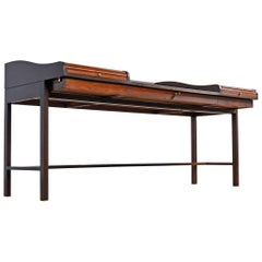 Edward Wormley for Dunbar Executive Rosewood Roll-Top Desk