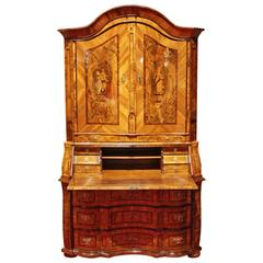 "18th Century Writing Cupboard, Secretary, Made in Saxony ""Glauchau"", circa 1750"