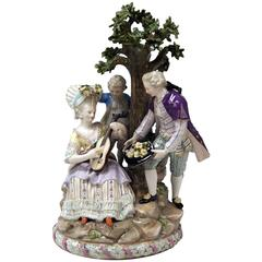 Meissen Gardener Figurines Group Model D 95 by M.V. Acier Made circa 1870